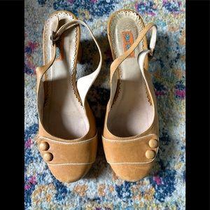 Miz Mooz Mustard Slingback heels